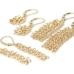 Delicate yet strong. These light and airy unique chainmaille earrings are warm and feminine. They have dainty details without being fussy.