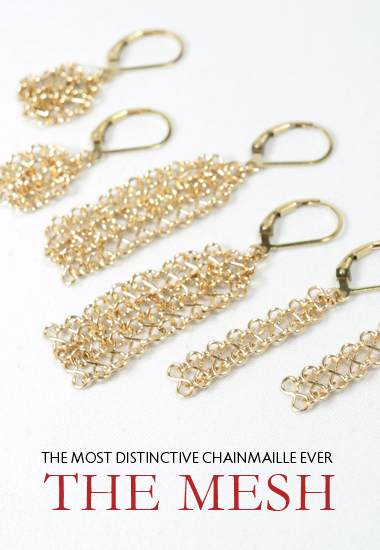 mesh collection in 14k gold
