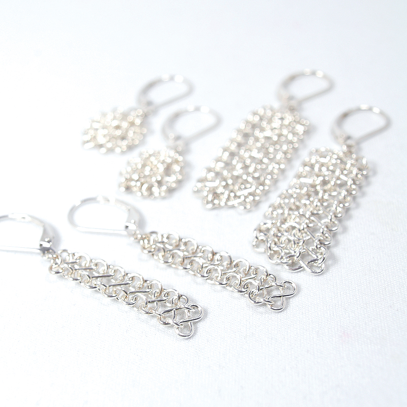 Mesh Collection earrings are handcrafted in solid Sterling Silver.